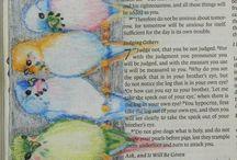 Biblia dekoráció / Bible journaling