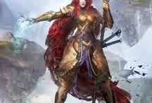 Mystics / Warriors of magic, mages of blades.