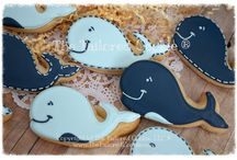 Whale cake, cookies, cupcakes, cakepops and more..