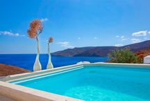 Spa suite Aegeo with private outdoor jacuzzi in veranda / honeymoon suite