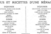 menus d'autrefois
