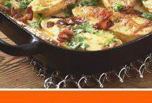 Ofenkartoffeln mit Käse und Speck