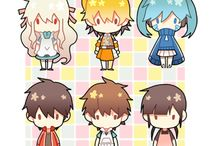Mekaku City Actors sets of images
