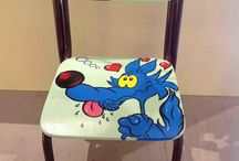 Hand painted chairs for chids