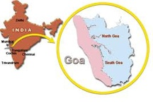 Where is Goa / where is goa, Goa is the smallest state and a well distinct popular beach destination of India. Located in west India and panaji is the state capital.