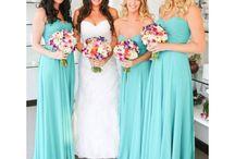 bridesmaids dress / Bridesmaids dresses. turquoise or grey?