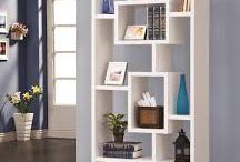 Shelves and book cases / White shelves and book cases