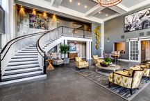 CDG Multifamily Amenities / Multifamily Leasing Lobbies, Clubrooms, Fitness, and all other public areas designed by Crosby Design Group.