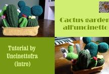 cactus all'uncinetto (foto e video-tutorial) / video tutorial per realizzare un cactus garden all'uncinetto