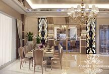 Дизайн виллы в стиле модерн в Испании / Дизайн виллы в Испании выполнен в стиле модерн. Все помещения виллы выдержаны в единой цветовой гамме. В оформлении комнат особый акцент сделан на декор, который передаёт стиль и настроение дома. В вилле много свободного места. Просторные помещения не давят на гостя, и человек чувствует себя более комфортно.