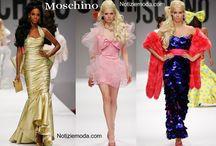 Moschino / Moschino collezione e catalogo primavera estate e autunno inverno abiti abbigliamento accessori scarpe borse sfilata donna.