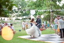 Dancing Outdoors Wedding Garden Style
