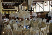 Strusie pióra na weselu / dekoracja weselna