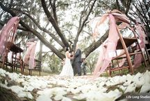 THE LANGE FARM Weddings by Iza's Flowers / With 80 acres to choose from, The Lange Farm has large oak trees and antique gazebos as perfect scenery for any ceremony location.