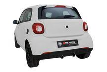 Sportowy tłumik Remus dla smart forfour / Renault Twingo / Miejskie auto również może pochwalić się świetnym brzmieniem!  Wszystko to dzięki REMUS INNOVATION - sportowy tłumik zapewni nowemu smartowi forfour oraz bliźniaczemu Renault Twingo dźwięk, którego nie powstydziłyby się dużo mocniejsze auta! Podwójne, centralne końcówki gwarantują również niespotykany wygląd tylnej części auta, dzięki czemu nie pozostaniesz niezauważony!  Sprawdź już teraz w Remus Polska http://www.remus-polska.pl/
