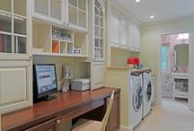 Home: Office Space in a Laundry Room
