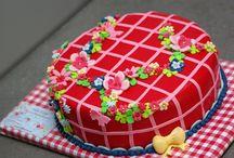 Taart vrolijk / happy cake fondant