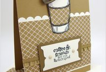 Stampin Up Perfect Blend - coffee / Coffee shop mug cards