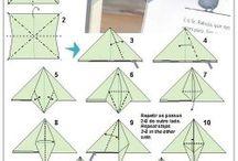 Origami könyvjelzők