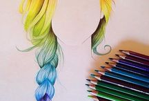 Rainbow drawings