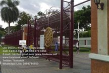 Wrought Iron Steel Gate - Railing- Fencing - Lamp - Signage by Lim Decor #www.limdeor.net