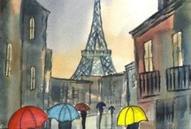 Париж. Рисунки.