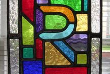 Stained glass letters