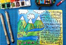 Art Journaling Ideas / Art journaling ideas, sometimes from unexpected sources. / by Michelle Gray