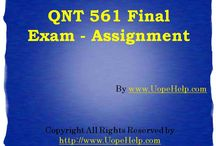 QNT 561 UopeHelp / We bring to you the largest online platform to find 100% verified correct answers to the QNT 561 Final Exam UOP Course Material.