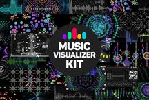 Music Visualizer Kit / «Music visualizer Kit» is After Effects template which include 30 original visualizations which react to your sound.  http://www.gesh.tv/store/music-visualizer-kit.html