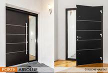 Portes aluminium / Personnalisez votre entrée avec la collection de portes Roche Habitat !