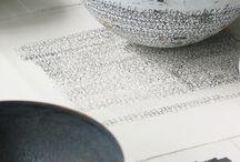 calligraphy and ceramics