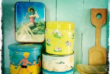 Tins / #tins #vintage #retro #boho #pets #animals #colouful #sweets #bohemian #gipsy #flowers
