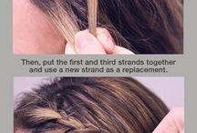Flätor och håruppsättningar