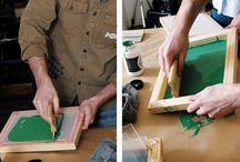 silkscreen are the use of photo stencils