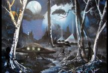 Spray-Paint - Art / Art gemaakt met Spuitverf onder druk, vastgelegd op film