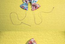 Fabric flowers & brooches