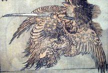 Hokusai Yokai / Yokai, and maybe some Chinese and Japanese dragons