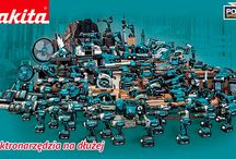 ELEKTRONARZĘDZIA MAKITA / Szeroka gama elektronarzędzi marki MAKITA: wiertarki, wiertarko-wkrętarki,  szlifierki kątowe, młoty udarowe, kosiarki, podkaszarki, ukośnice, wyrzynarki, nożyce do blachy.