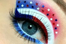 Fourth of July Fashion - Hair, Eye Makeup, OOTD