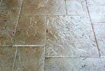 Floor cement stamps