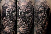 tattoo clown