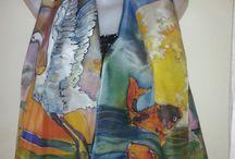 Proyectos que intentar / pañuelos de seda pintados a mano