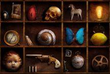 work: curiosities display