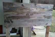 Barn wood pallet headboard