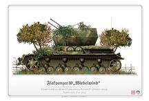 WW2 - WIRBELWIND / Flakpanzer IV Wirbelwind (niem. trąba powietrzna) – niemieckie samobieżne działo przeciwlotnicze z okresu IIWŚ wyposażone w cztery działa Flak 38 kalibru 20mm.