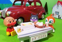 アンパンマン アニメ❤おもちゃ ピクニックでシルバニア ファミリーカーとアンパンマンおもちゃAnpanman toys