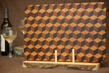 3D Tumbling Block Board / 3D Tumbling Block Board made from walnut, cherry and maple