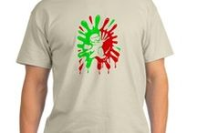 Green and Red Paintball Splatter Plus Mascot