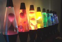 lava lamps / colourful lava lamps